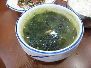 Seaweed with sea urchin soup, Korea