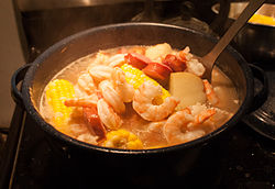 Shrimp boil, also known as Lowcountry Frogmore Stew
