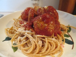 Spaghetti and Turkey Meatballs 003