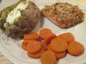Walnut Crusted Salmon baked potato 005