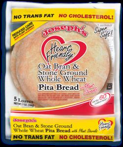Joseph's Heart Friendly Whole Wheat Flour Pita Bread