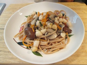 Scallops with Linguine 001