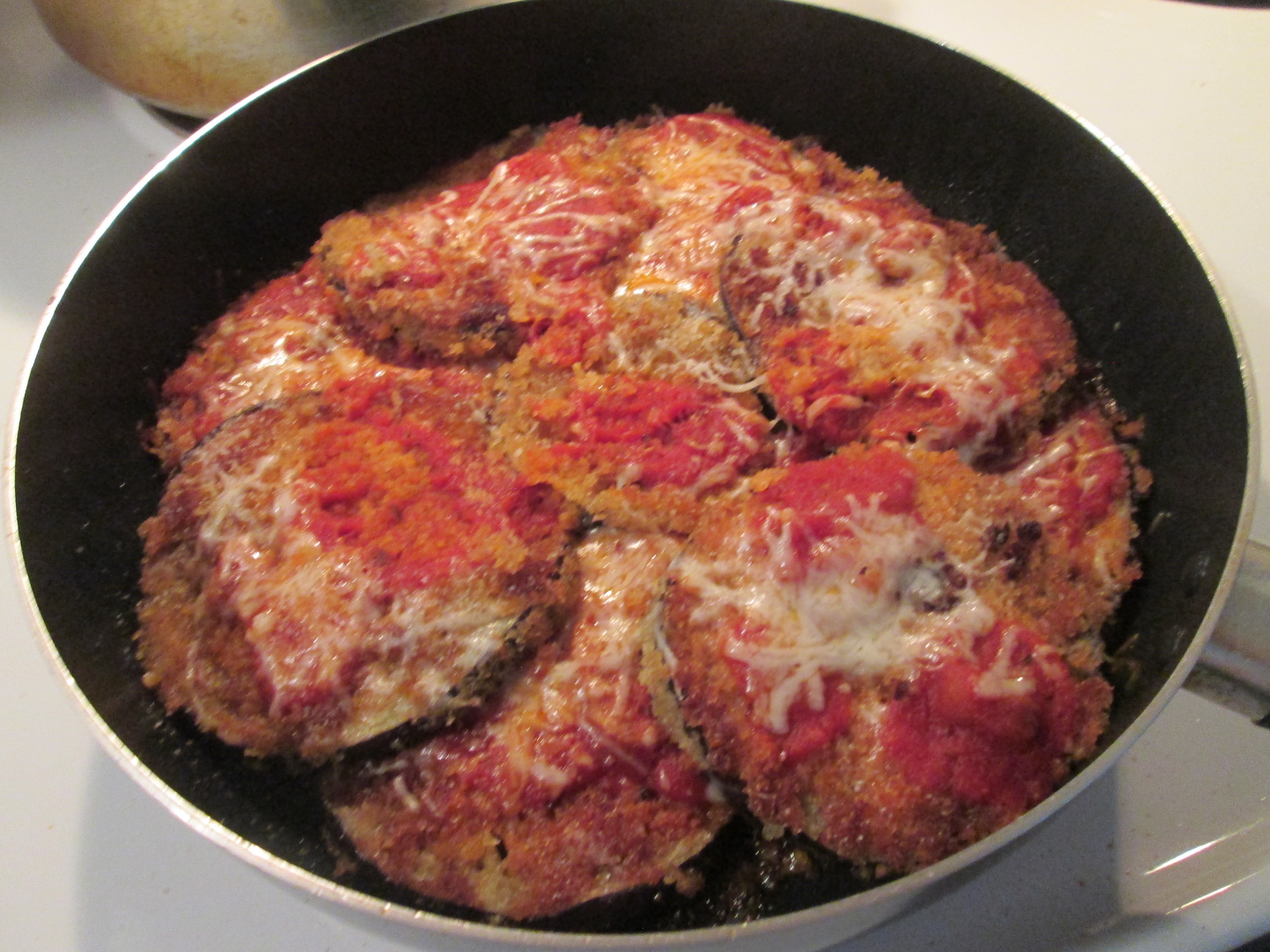 Skillet Eggplant Parmesan w/ Rustic French Bread