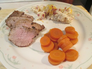 Cumin Spiced pork Tenderloin Potato Salad 004