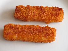 Fried fish fingers