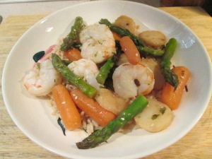 Shrimp and Asparagus Stir Fry 006