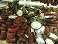 A variety of Portuguese chouriços