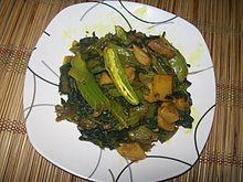 Fried mustard green dish
