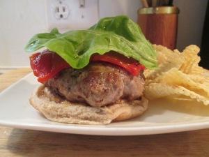 Turkey Burger, muenster cheese bib lettuce 003