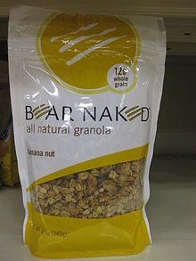 A modern packaged granola cereal