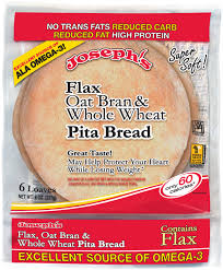 Joseph's Flax, Oat Bran, and Whole Wheat Pita Bread