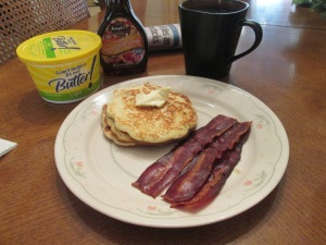 Pancakes and Turkey Bacon 004