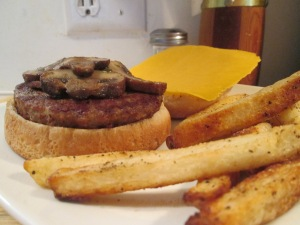 Turkey Burger fries 002