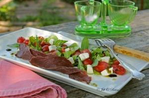 Wild Idea Buffalo Bacon Caprese Salad