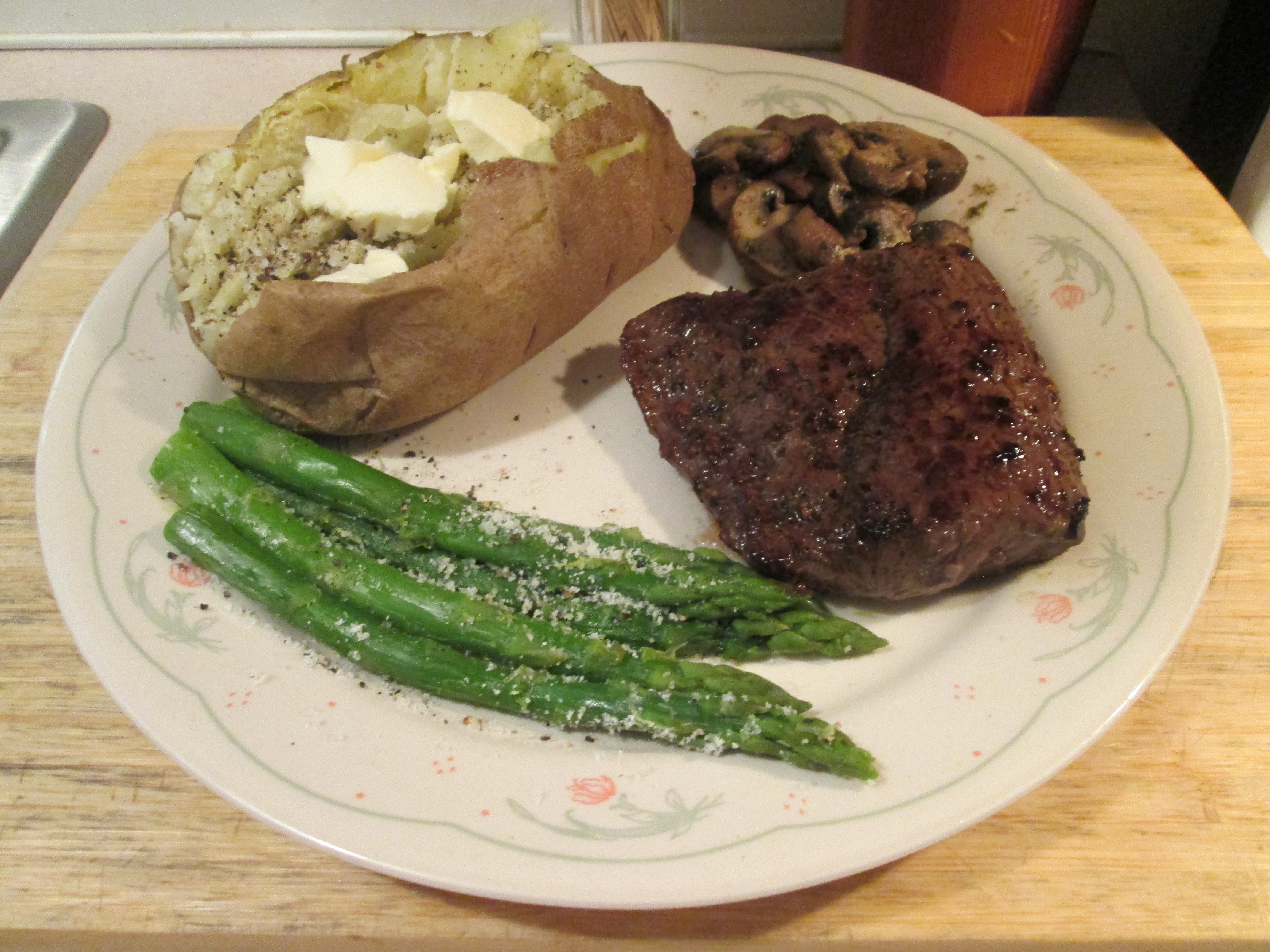 and asparagus sirloin steak with roasted potatoes and asparagus recipe ...