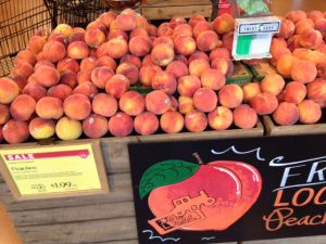 Local peaches at the Whole foods Market - Peaches are Full of Goodness