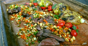 Cilantro Skirt Steaks with Roasted Corn Relish