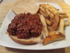 Not So Sloppy Joes and Fries 009