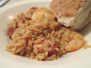 Shrimp and Andouille Sausage Jambalaya and Baked California Sour 006
