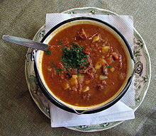 Hungarian Gulyásleves, Goulash soup