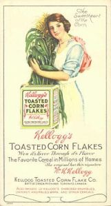 Advertisement for Kellogg's Corn Flakes, c. 1915.