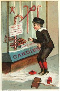 An early image of candy canes
