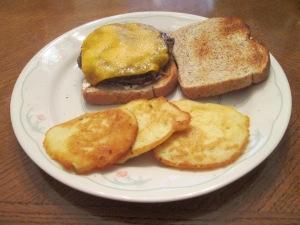 Buffalo Burger Pattie Melt Potato Pancakes 009