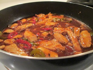 Chicken Fajitas Refried Beans 003