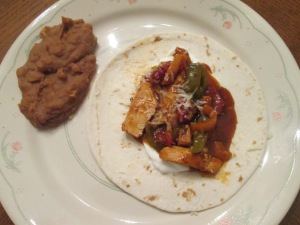 Chicken Fajitas Refried Beans 011