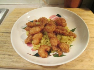 Clam Strips Popcorn Shrimp Caribbean Rice 005