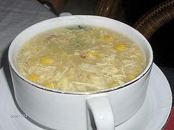 Corn crab soup
