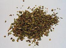 Dried oregano for culinary use