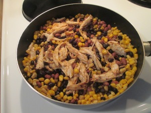 One Pot Chicken, Rice, Beans, and Corn 002