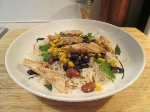 One Pot Chicken, Rice, Beans, and Corn 005