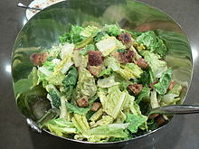 A simple Caesar salad