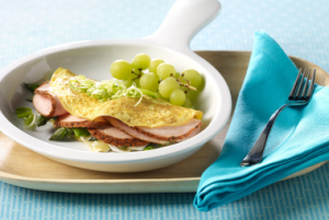 Cajun Turkey, Asparagus & Brie Cheese Omelet