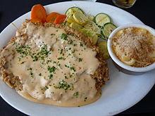 Chicken fried steak with chipotle cream gravy