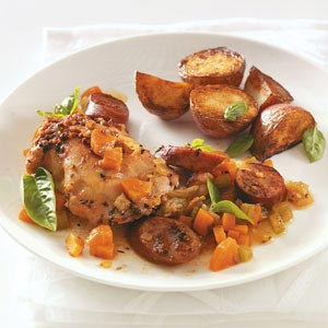 Chicken Thighs with Sausage Recipe