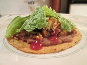 Turkey and Refried Beans Tostadas 006