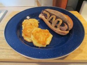 Bluegrass Lean Bratwurst w Potato Pancakes 002