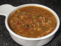 Brunswick stew made with chicken