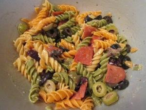 Turkey Meatball Mini Sub  Italian Pasta Salad 001