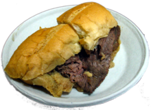 A French dip