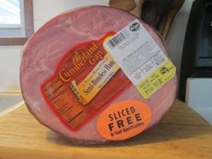 Baked Glazed Ham w Maple Bacon Pecan Roasted Butternut Squash 001