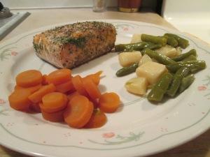 Baked Salmon Carrots Beans 007