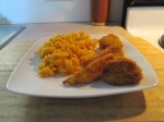 Crispy Cheddar Bacon Chicken w Cheesy Rotini Pasta 006