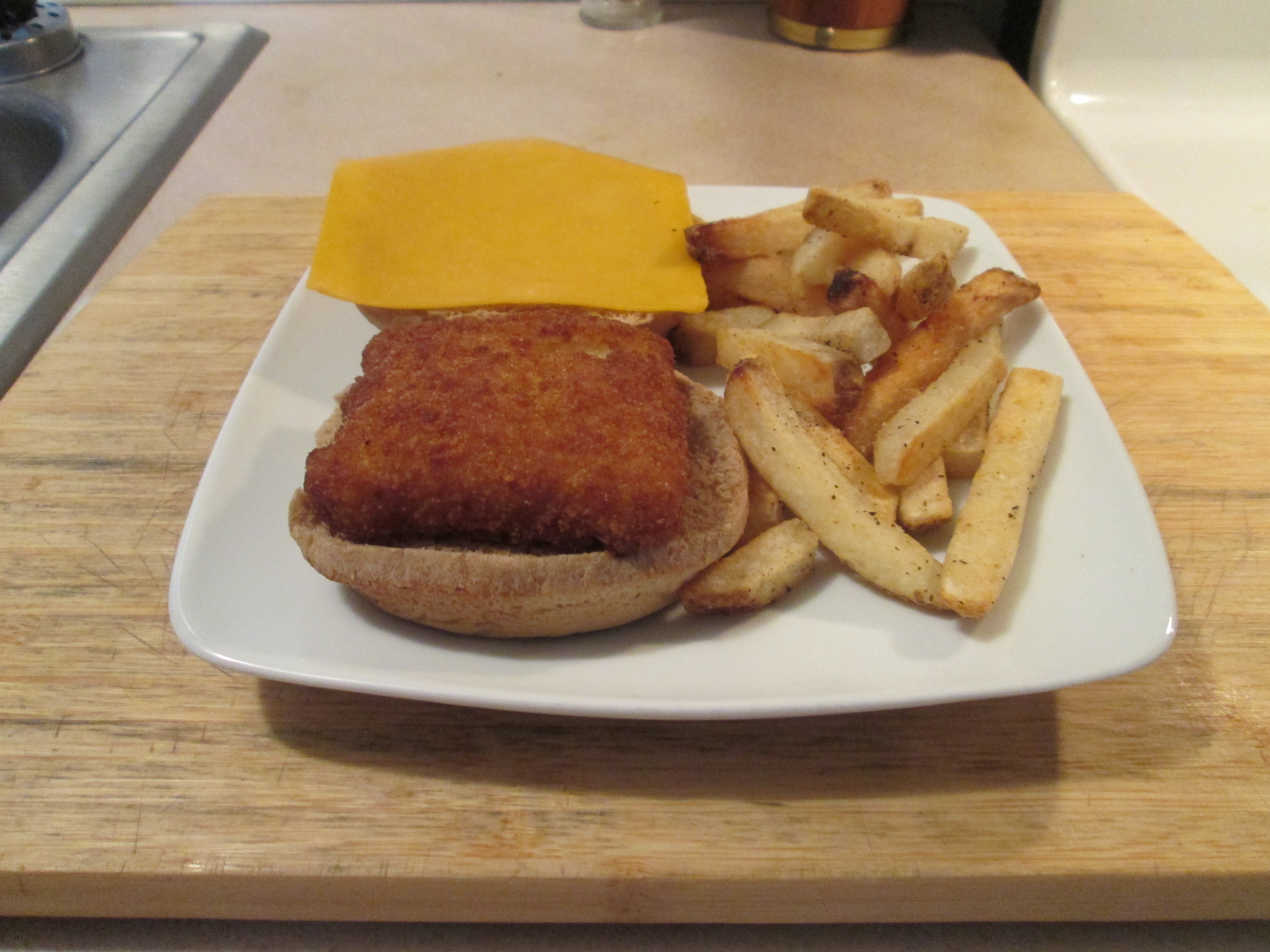 Fish sandwich w baked fries my meals are on wheels for Fish sauce kroger