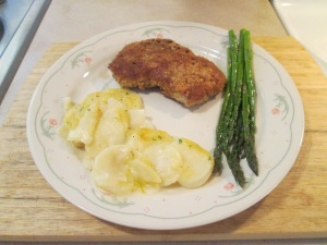 Panko Crusted Cubed Pork Steak w Scalloped Potato Casserole 011