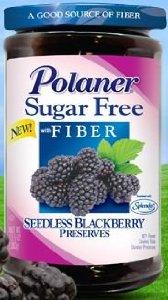 Polaner Sugar Free with Fiber Seedless Blackberry Preserves