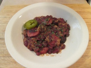 Red Beans and Rice w Hardwood Smoked Turkey Sausage and Cornbrea 005